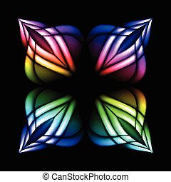Stain glass flower - Abstract stain glass flower pattern...