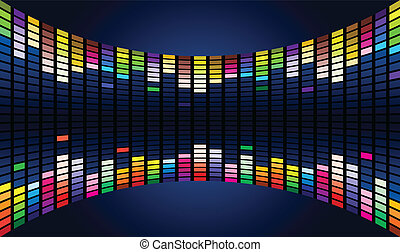 Sound waveform - Colorful Graphic Equalizer Display editable...