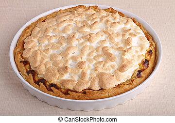 lemon tart meringue - tart of lemon meringue