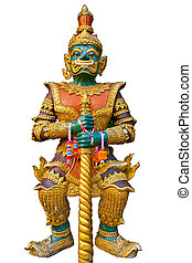 Giant in thai temple - Giant in chiangmai temple in the...