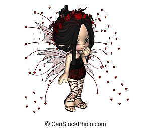 Cute Toon Valentine Fairy - 1