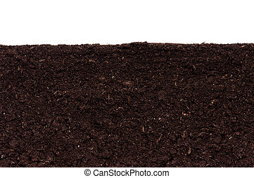 Soil background - Close-up of organic soil. Can be used as...