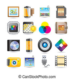photo  - photography icon set