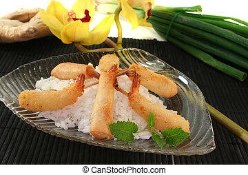 Thai prawns specialties