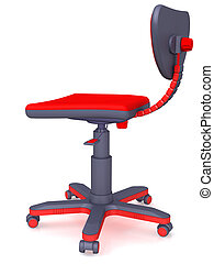 office chair - Plastic modern office chair on castors