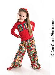 Cute little girl in Christmas wear