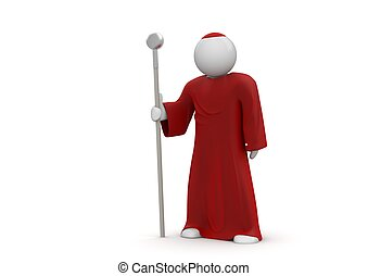 Cardinal / Pope - Isolated. One of a 1000 3d characters...