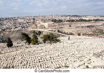 Mount of Olives - View from the Mount of Olives on Old...