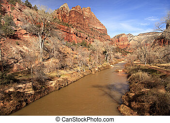 Virgin River Zion Canyon National Park Utah - Virgin River...