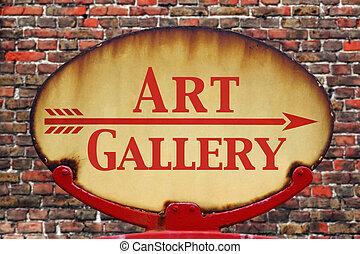 signe,  art, galerie,  retro