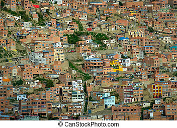 Background of houses, La Paz, Bolivia