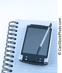 pda on notepad