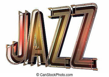 abstract jazz background isolated on a white