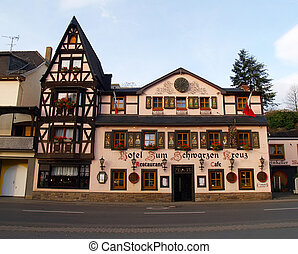 Lovely ancient hotel in small town Altenahr Germany