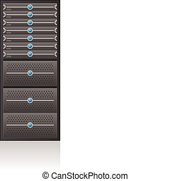 Server Rack - Single Server Rack 2D Icon part of the...