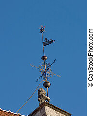 Architectural details a Wind-vane of ancient city