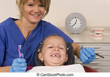 dentist - a child at the dentist