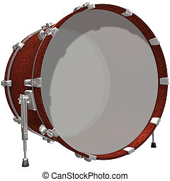Bass Drum isolated on a white background