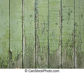 old green wooden fence - perfect grunge background