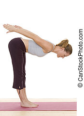 gymnastics - a woman is doing some gymnastics exercises