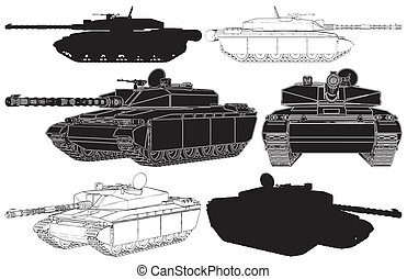 Military Tank Vector