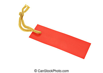 Red tag with string