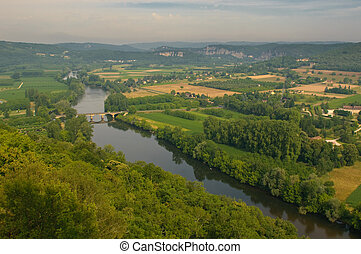Valley of Dordogne river, France