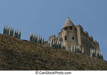Chateau Beynac, medieval castle in Dordogne, France