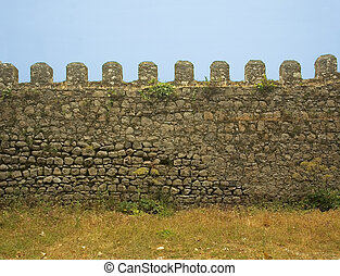 old castle wall
