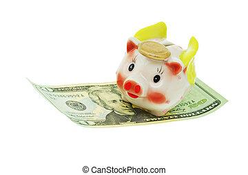 飛行, 小豬, 銀行
