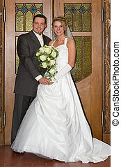 wedding - beautiful bride and bride groom