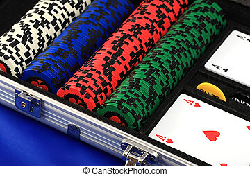 set of chips and cards - A set of chips and cards for the...