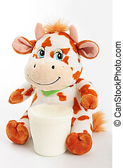 Cow with milk.