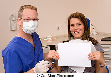 dentist - a patient at the dentist