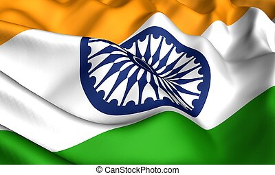 Flag of India Close up Front view