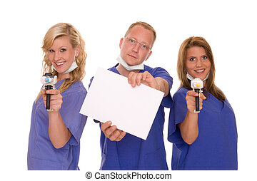 dentist with  two nurses