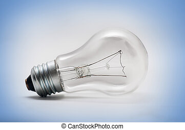 light bulb - a light bulb on the blue background