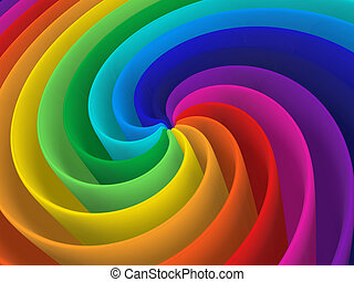 rainbow color spiral structure - artistic rainbow colorful...
