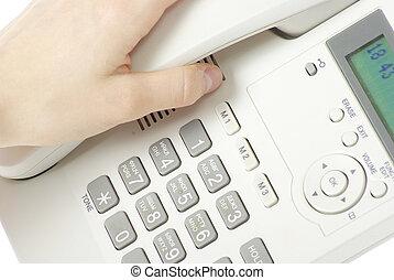 phone keypad - white phone keypad close up
