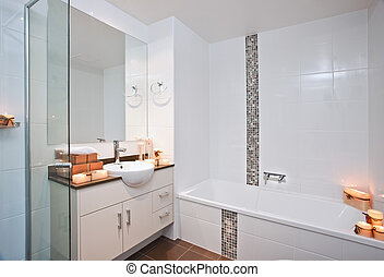 Modern Bathroom - Candlelit modern style bath room
