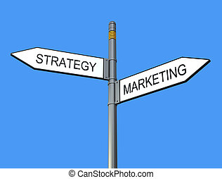 Strategy and marketing sign-post - conceptual sign post...