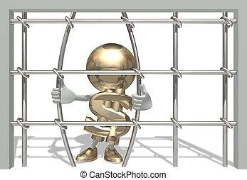 Mr dollar in prison - Mr of dollar have imprisoned 3D...