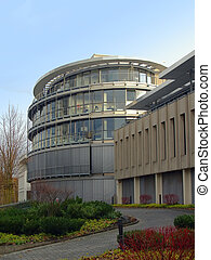 Modern round building in Bonn western Germany