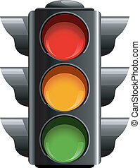 Traffic lights over white. EPS 8, AI, JPEG