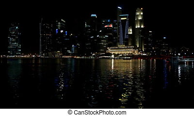 Singapore with water reflections
