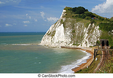 White cliffs of Dover - Beautiful white cliffs near Dover,...