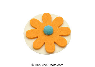 Paper-thin wafer and felt decoration