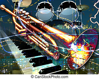 abstract musical background - abstract jazz rock background...