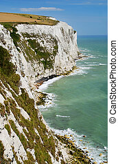 White cliffs of Dover - View at white cliffs of Dover, Great...