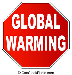 stop sign with stop global warming
